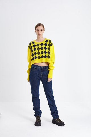 OUTWOOD CROP SWEATER AMARILLO - comprar online