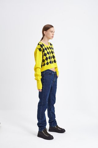 OUTWOOD CROP SWEATER AMARILLO en internet