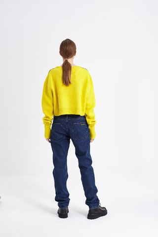 OUTWOOD CROP SWEATER AMARILLO - Kostüme