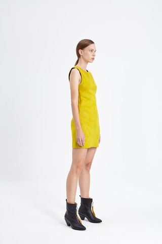 THAMES DRESS AMARILLO - comprar online