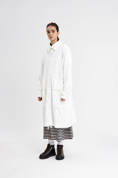 GAMBLE RAINCOAT BLANCO