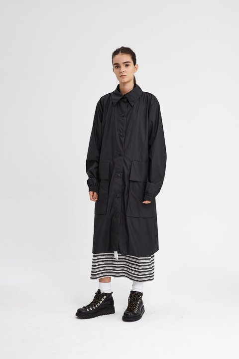 GAMBLE RAINCOAT NEGRO