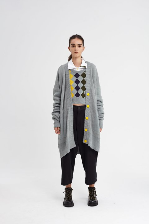 SHEFFIELD CARDIGAN GRIS