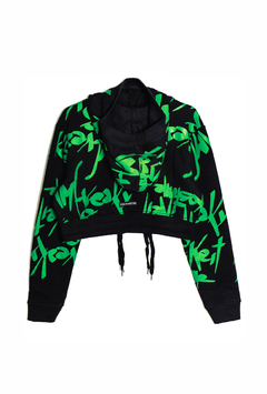 LYNCIS GREEN CROP SWEATSHIRT on internet