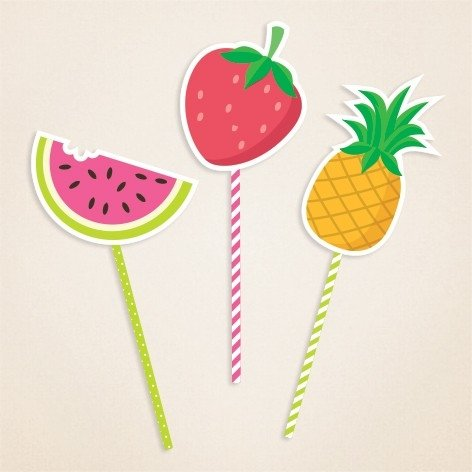 Toppers grandes ¨Frutas¨