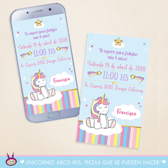 Unicornio Arco Iris: Party Box ¨Mini Deco¨ - Cukero