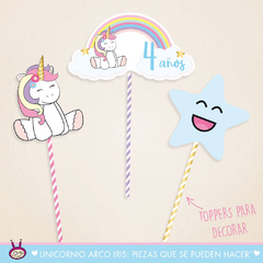 Unicornio Arco Iris: Party Box ¨Mini Deco¨ en internet