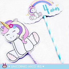 ¨UNICORNIO ARCO IRIS¨ MINI KIT IMPRIMIBLE - comprar online