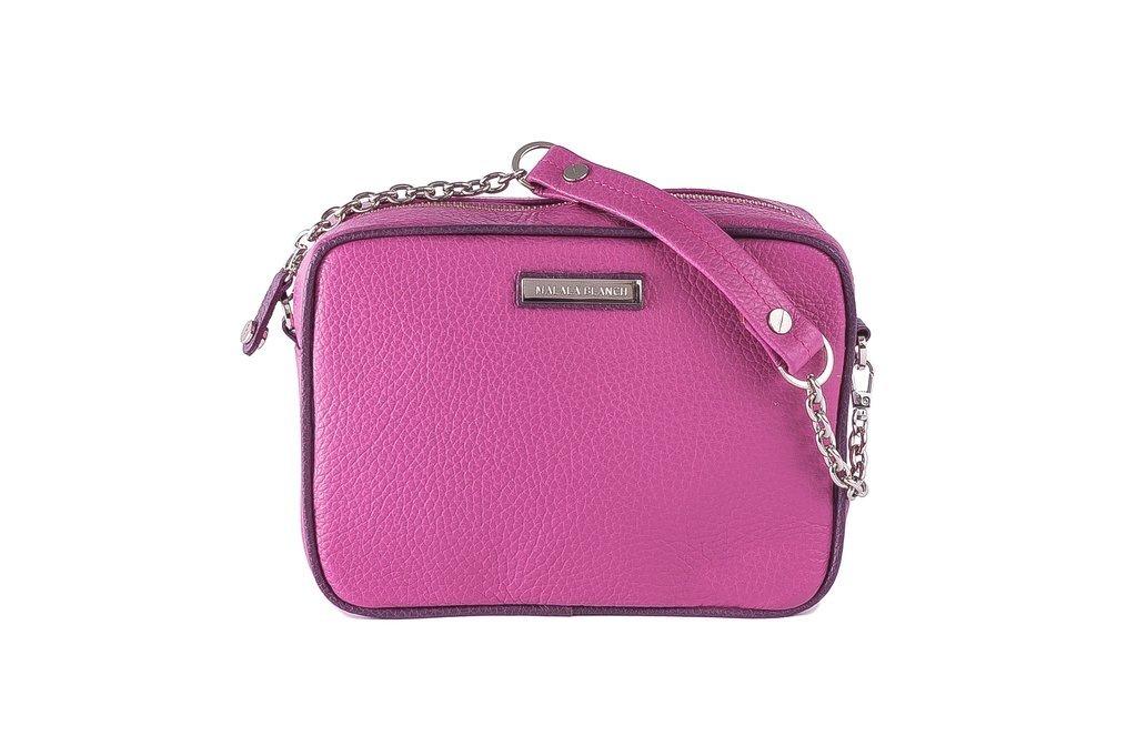 a50083328 BERNAL SHOULDER BAG HAND BAG cartera de cuero 100% Orquídea & Violeta