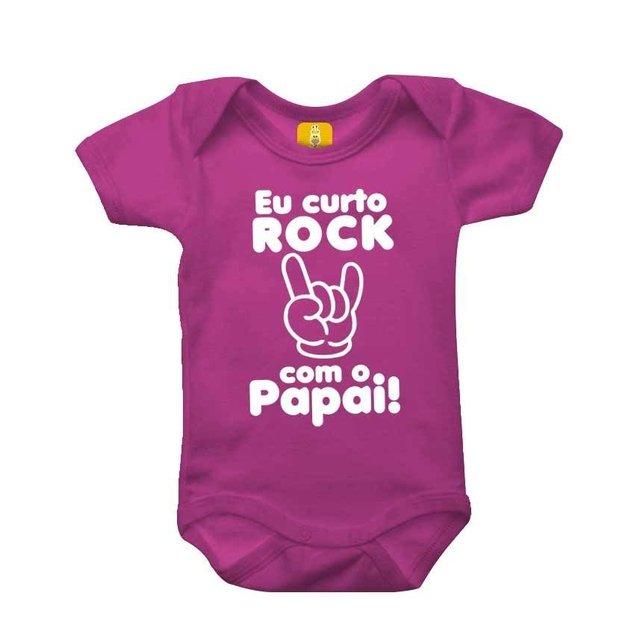73ba369b1380 Body bebê - Eu curto rock com o papai