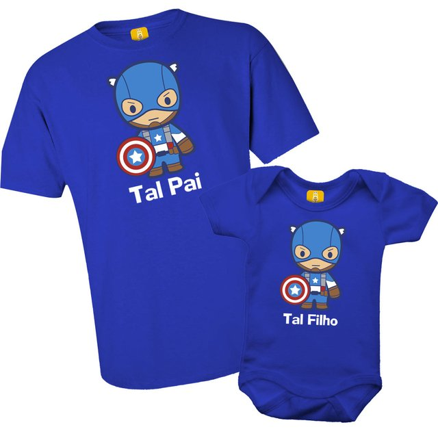 54892dea138356 Kit camiseta - Tal pai, Tal filho Capitão america
