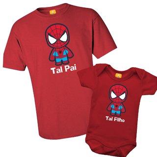 340a7448f7bbdf Kit camiseta - Tal pai, Tal filho Homem aranha