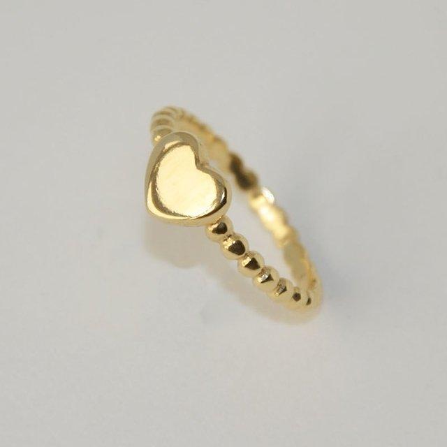 855b8b0324da9 Anel Coração Dourado folheado em Ouro 18K