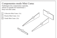 Kit p/ Transformar em Mini Cama Manhattan - comprar online