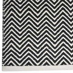 Tapete Kilim Cotton 100x150 CK01 black white - comprar online