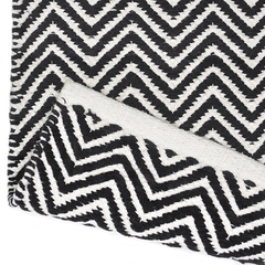 Tapete Kilim Cotton 100x150 CK01 black white - Zarif Tapetes
