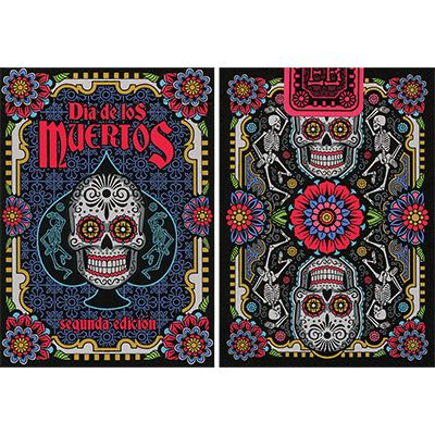 Dia de los Muertos Black Playing Cards
