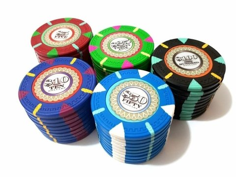 Rollo 25 Fichas de Poker The Mint Denominación