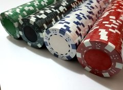 Rollo 25 fichas de Poker Modelo Dice Color Verde en internet