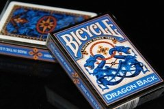 Baraja Bicycle Dragon Back Playing Cards Blue Azul