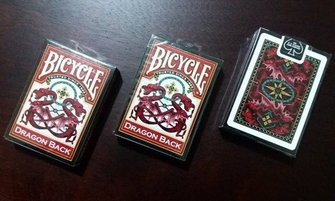 Bicycle Dragon Back Rojo