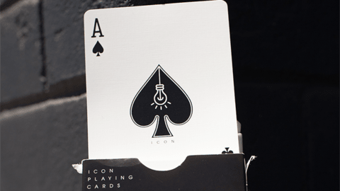 Baraja ICON BLK Playing Cards Negro
