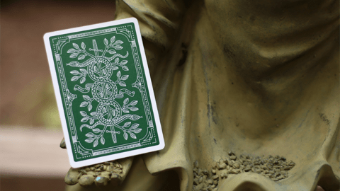 Baraja Monarchs Playing Cards Green Verde de Theory11