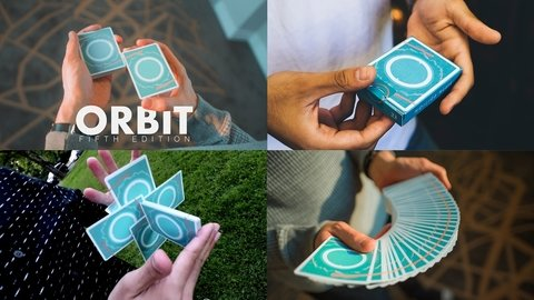 Baraja Orbit V5 Playing Cards Azul