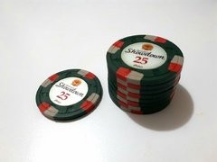 "Rollo 25 fichas de Poker Showdown Denominación ""$25"""