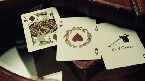 Baraja Victorian Room Playing Cards The Blue Crown