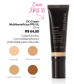 CC Cream Multibenefícios FPS 15 Light to Medium - comprar online