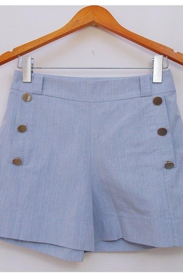 Shorts Jeans Botão Azul 6b16e81ed5e01