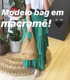 Straw bag Macramê