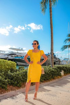 VESTIDO LAISE YELLOW MIAMI ref 30393