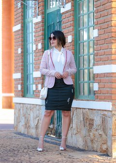 BLAZER ROSA LISTRADO ref 11272 - Joy Fashion