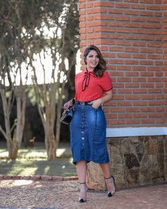 SAIA MIDI LISTRAS ref 11161 - Joy Fashion