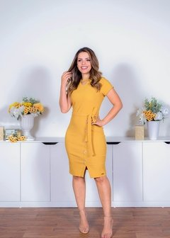 VESTIDO YELLOW BENGALINE  ref 30293 - Joy Fashion