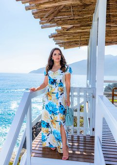 VESTIDO LONGO RESORT ref 30454 - Joy Fashion