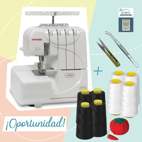 ¡OPORTUNIDAD! Janome 7933 + KIT DE COSTURA
