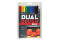 Set dual brush pen  de colores Primarios, 9 colores + Blender tombow