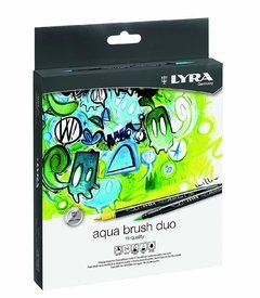 ROTULADORES LYRA AQUA BRUSH DUO SET 24 COLORES - comprar online