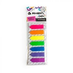 BANDERITA ADHESIVA 7 COLORES FLECHA NEON 12MMX45MM 25 H X COLOR