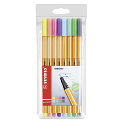 Rotulador Color Stabilo Point 88 Pastel P/8 Colores