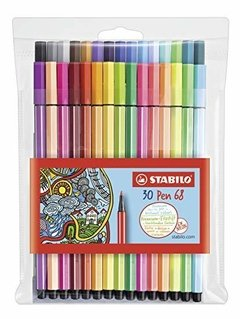 Set rotuladores Pen 68 Stabilo 30 colores.