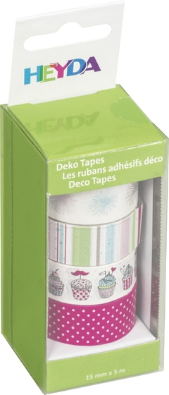 "SET DECO TAPE HEYDA 4 UN. ""Pastel"""