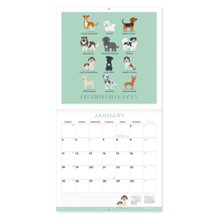 Calendario de pared 2021 Dog world- 30x29 Cm en internet