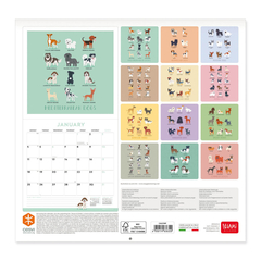 Calendario de pared 2021 Dog world- 30x29 Cm - comprar online