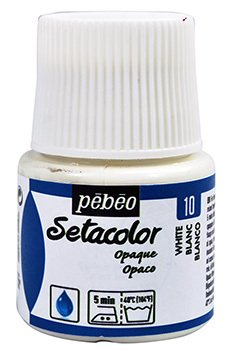 Setacolor Opaco Pebeo Blanco 45ml.