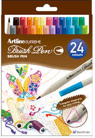 Artline Supreme Brush Pen - Puntas finas set 24 colores - comprar online