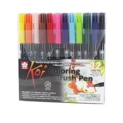 Plumon Acuarelable Koi Coloring Brush Set 12 Colores